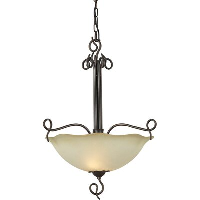 Cordia 4-Light Bowl Pendant with Umber Shade in Antique Bronze