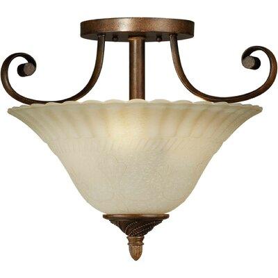 Blumer 3-Light Semi Flush Mount