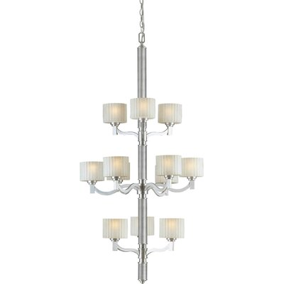 12-Light Shaded Chandelier