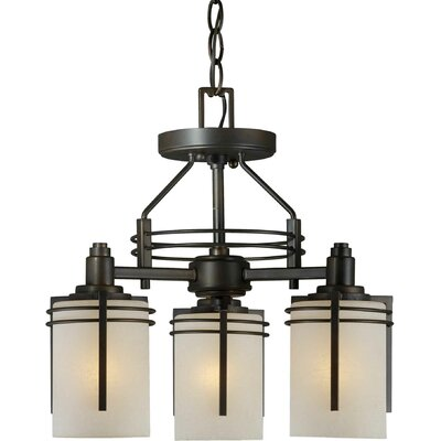 3-Light Convertible Semi Flush