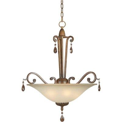 4-Light Bowl Inverted Pendant