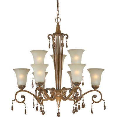 Boulware 9-Light Shaded Chandelier