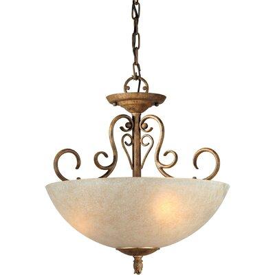 Three Light Convertible Pendant in Chestnut