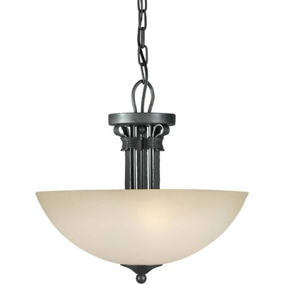 3 Light Convertible Semi Flush Mount