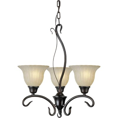 3-Light Shaded Chandelier