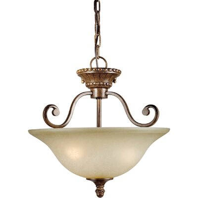 3-Light Convertible Semi Flush Mount - Umber Mist