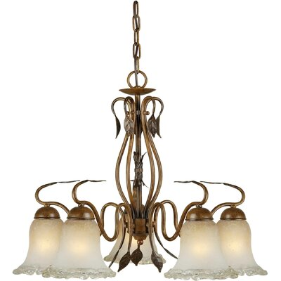 Bourgeois 5-Light Shaded Chandelier