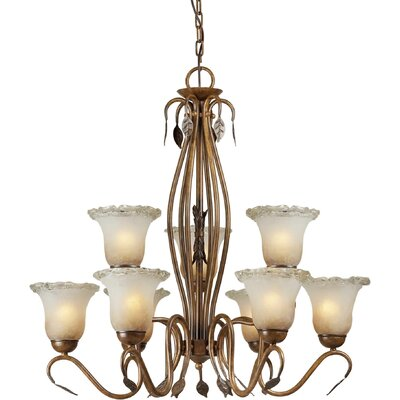 Bourget 9-Light Shaded Chandelier