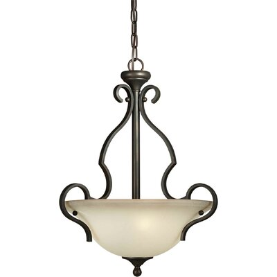 Bottomley 3-Light Bowl Inverted Pendant
