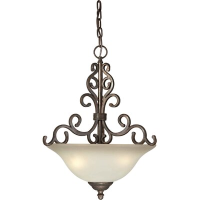 4 Light Bowl Inverted Pendant Size: 22.5 H x 17 W
