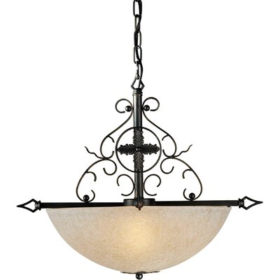 Bothwell Bowl Pendant in Bordeaux Size: Small