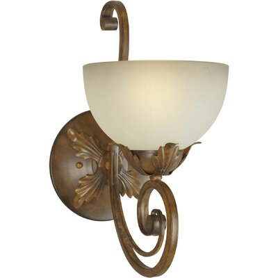 One Light Wall Sconce with Umber Shade in Rustic Sienna