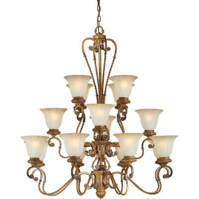 16-Light Shaded Chandelier
