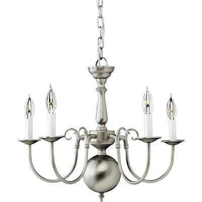 Karst 5-Light Candle-Style Chandelier Finish: Brushed Nickel