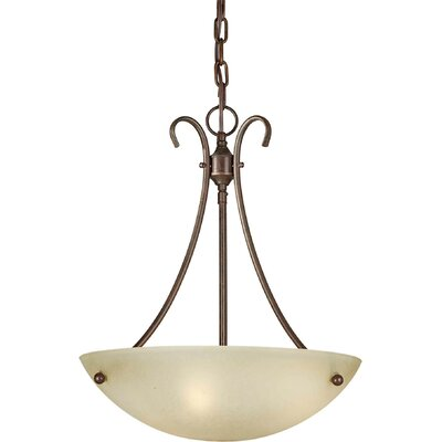 Dascomb 3-Light Bowl Pendant Finish / Shade: Black Cherry / Umber Mist