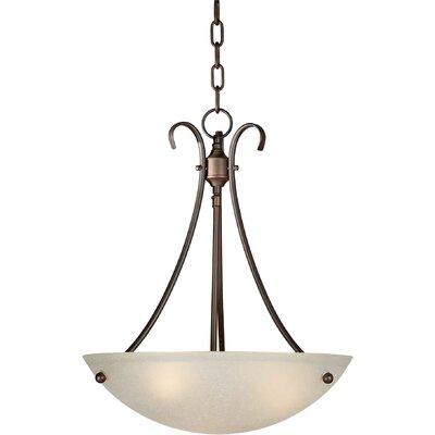Dascomb 3-Light Bowl Pendant Finish / Shade: Antique Bronze / Umber Linen