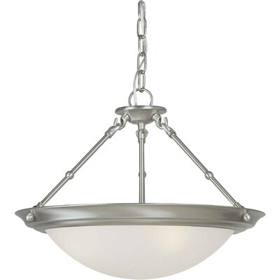 3-Light Convertible Inverted Pendant Finish / Shade: Brushed Nickel / White Linen
