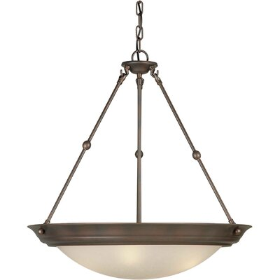 Bowl Inverted Pendant Finish / Shade: Antique Bronze / Umber Linen