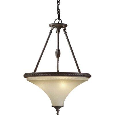 3 Light Bowl Inverted Pendant
