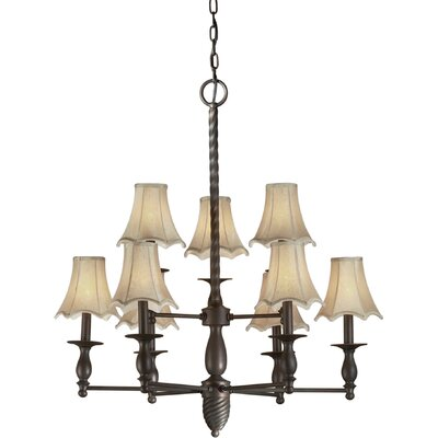 Pascua 9-Light Shaded Chandelier
