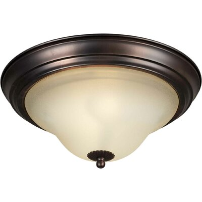 1-Light Flush Mount Size: 15.25 H x 7.25 W, Finish: Antique Bronze