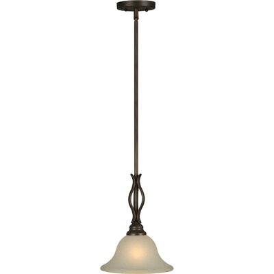 1-Light Mini Pendant Finish / Shade: Antique Bronze / Umber Linen