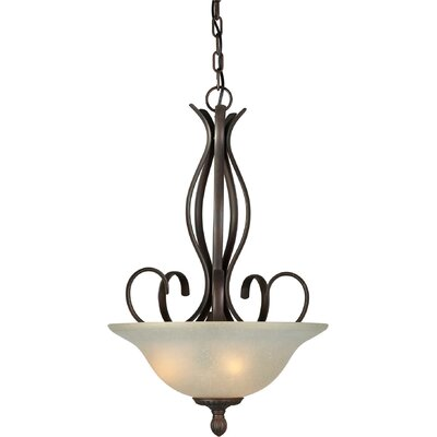3-Light Bowl Inverted Pendant Finish / Shade: Antique Bronze / Umber Linen