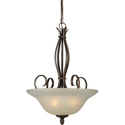 4-Light Bowl Inverted Pendant Finish / Shade: Black Cherry / Umber