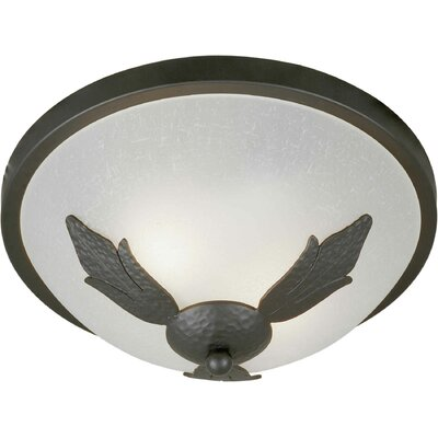 2-Light Flush Mount Size: 13 H x 5.5 W