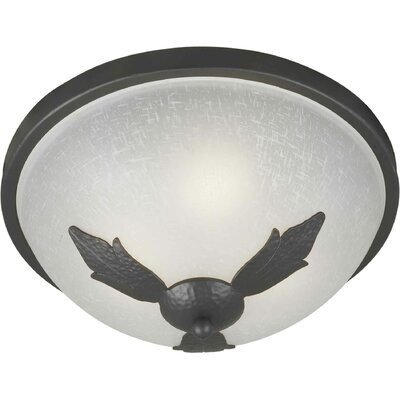 2-Light Flush Mount Size: 15 H x 7 W