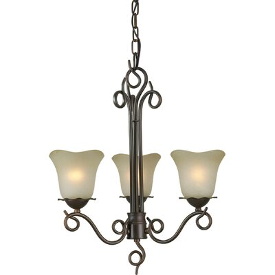 Cordia 3-Light Shaded Chandelier