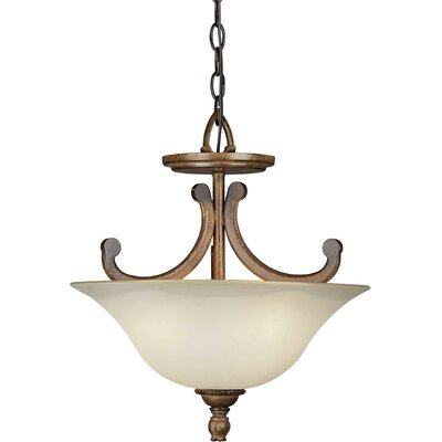 3-Light Convertible Inverted Pendant