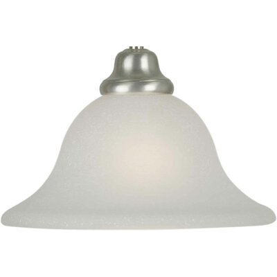 10 Glass Bell Pendant Shade Shade: White Linen