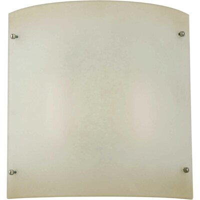 Two Light Wall Sconce with Umber Mist Shade in Brushed Nickel