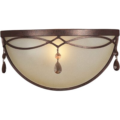 One Light Wall Sconce in Black Cherry