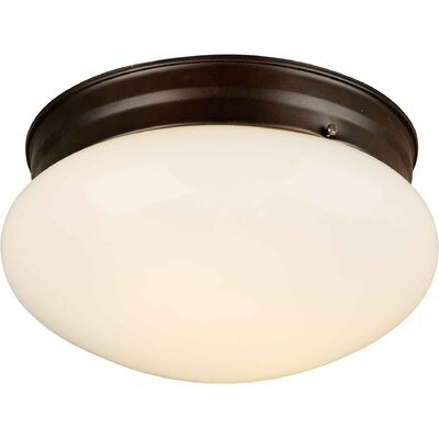 2-Light Opal Flush Mount Finish: Antique Bronze