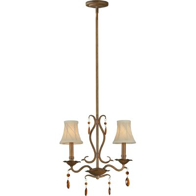 2-Light Mini Pendant with Fabric Shade in Rustic Sienna