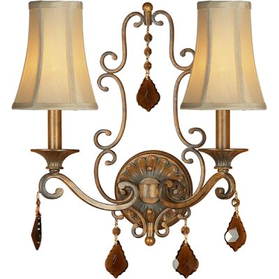 Two Light Wall Sconce in Rustic Sienna