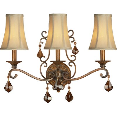 Three Light Wall Sconce in Rustic Sienna