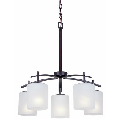 Mcraney 5-Light Shaded Chandelier Finish: Antique Bronze