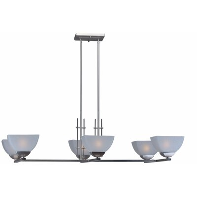 6-Light Kitchen Island Pendant Finish: Brushed Nickel