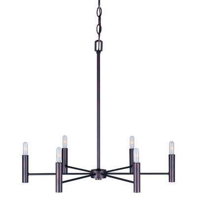 Mcroy 6-Light Candle-Style Chandelier Finish: Antique Bronze