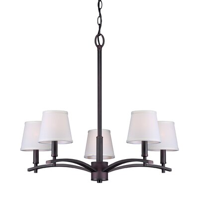 Norvelt 5-Light Shaded Chandelier Finish: Antique Bronze