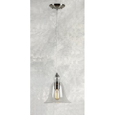 Du Bois Cord-Hung 1-Light Mini Pendant with Bell Shade