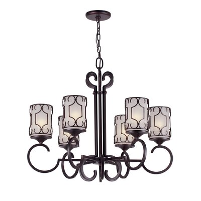 Nixon 6-Light Shaded Chandelier