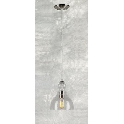 Du Bois Cord-Hung 1-Light Steel Mini Pendant