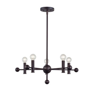 Josue 5-Light Sputnik Chandelier