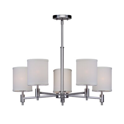 Moriarty 5-Light Shaded Candle-Style Chandelier Finish: Brushed Nickel