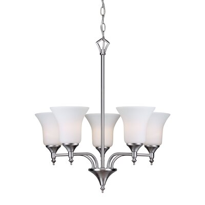 Crothersville 5-Light Shaded Chandelier Finish: Brushed Nickel