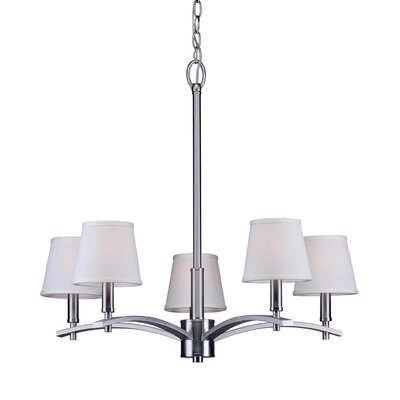 Norvelt 5-Light Shaded Chandelier Finish: Brushed Nickel